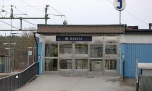 Entrance to Märsta Station