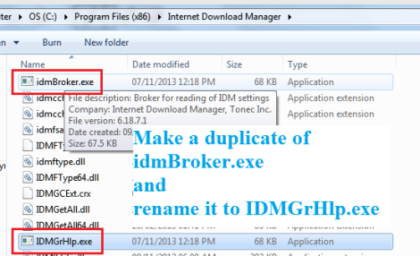 make a duplicate of idmBroker.exe and rename it to IDMGrHlp.exe.