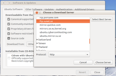 Select best server for Ubuntu