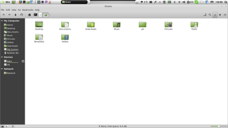 Comes with Nemo file manager, which is obviously better than Windows Explorer or Nautilus