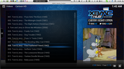 All time favorite Tom And Jerry in Cartoon HD addon in XBMC