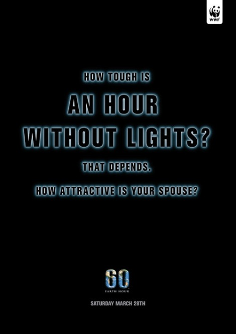WWF – How tough is one hour without light?